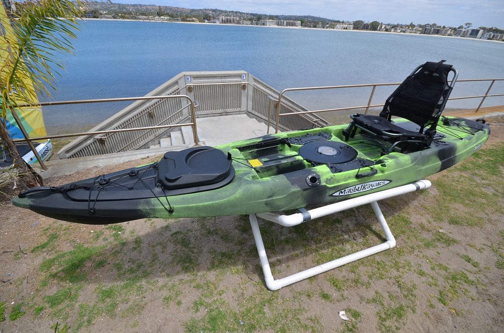 malibu stealth 14 is a very stable fishing kayak and great for sea fishing also