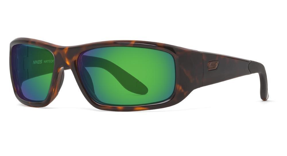 Tortoise Amber Lens w/Green Mirror)