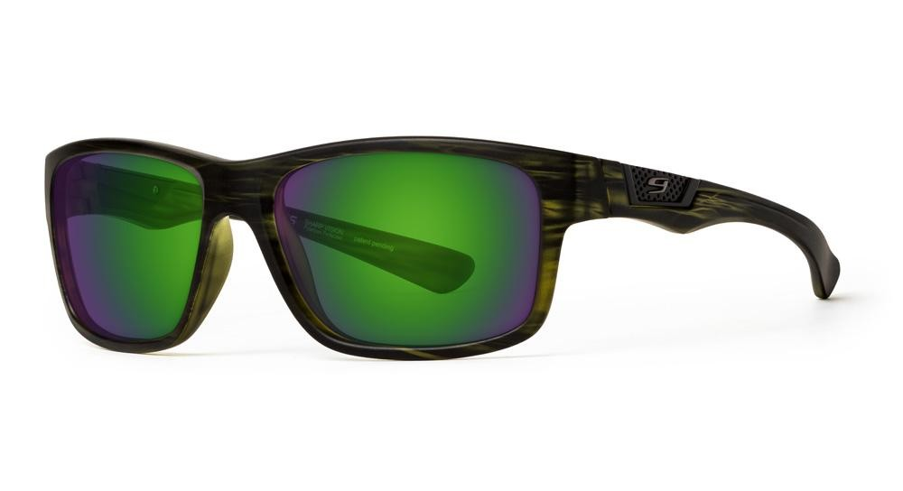 Dark Green Tortoise Amber Lens w/Green Mirror